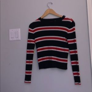 Navy/Red/White stripped sweater